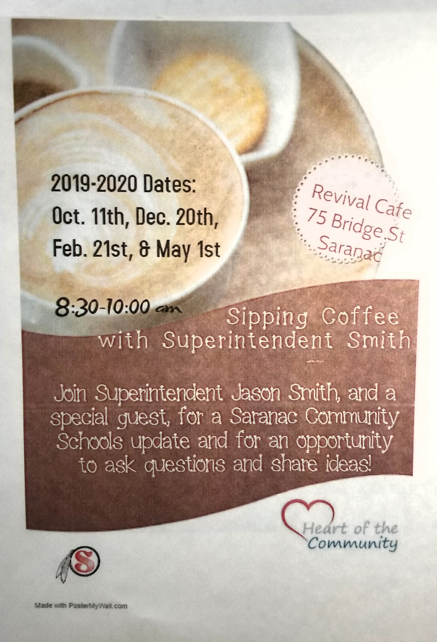 Sip Coffee with Superintendent Smith
